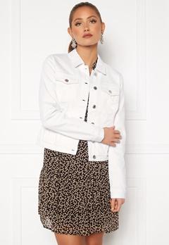 VERO MODA Hot Soya LS Denim Jacket Bright White bubbleroom.dk