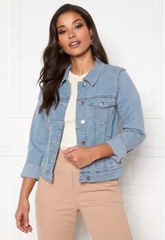 VERO MODA Hot Soya LS Denim Jacket Light Blue Denim Bubbleroom.dk