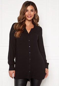 VERO MODA Isabella ls Shirt Black Bubbleroom.dk