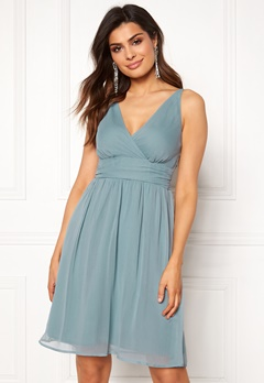 VERO MODA Josephine Knee Dress Smoke Blue Bubbleroom.dk