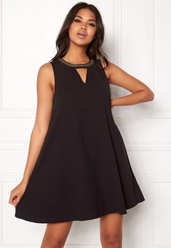 VERO MODA June Bead SL Short Dress Black Bubbleroom.dk