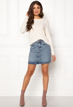 VERO MODA Kathy Short Denim Skirt Light Blue Denim Bubbleroom.dk