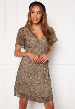 VERO MODA Kay SS Wrap Short Dress Nomad Bubbleroom.dk