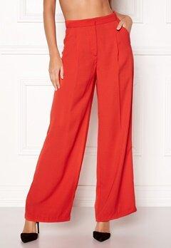 VERO MODA Lanjuli HW Wide Pants Poppy Red Bubbleroom.dk