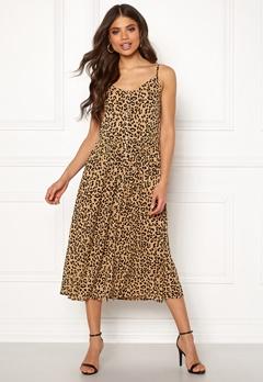 VERO MODA Lea S/L Midi Dress Tigers Eye Bubbleroom.dk