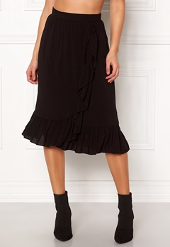 VERO MODA Leo N/W Wrap Skirt Black Bubbleroom.dk