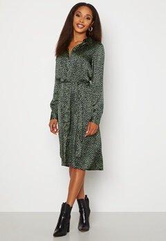 VERO MODA Leona Calf Shirt Dress Black Leona AOP Bubbleroom.dk