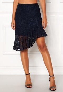 VERO MODA Lizz HW BLK Skirt Night Sky Bubbleroom.dk