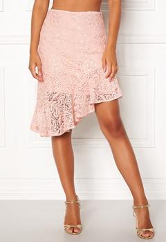VERO MODA Lizz HW BLK Skirt Sepia Rose Bubbleroom.dk
