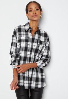 VERO MODA Luna LS Shirt Black Checks bubbleroom.dk