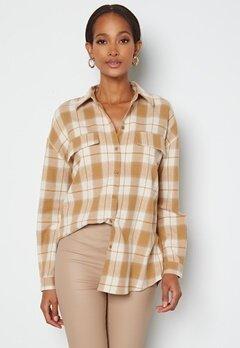 VERO MODA Luna LS Shirt Tobacco Brown Checks bubbleroom.dk