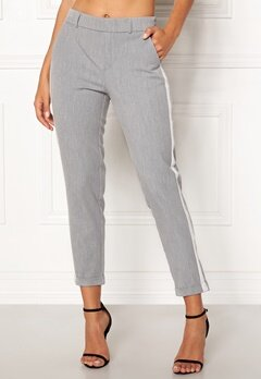 VERO MODA Maya Loose Panel Pant Light Grey Melange Bubbleroom.dk