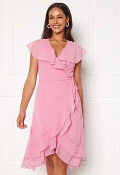 VERO MODA Maya Wrap Frill Dress Rosebloom Bubbleroom.dk