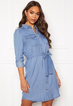 VERO MODA Mia Regular Denim Shirt Light Blue Denim Bubbleroom.dk