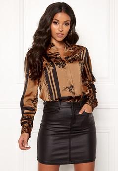 VERO MODA Mimi ls Shirt Tobacco Brown Bubbleroom.dk