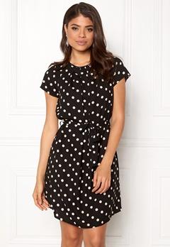 VERO MODA Nelli S/S Short Dress Black: White dots Bubbleroom.dk