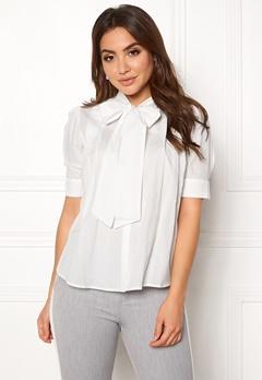 VERO MODA Nicole 2/4 Tie Shirt Snow White Bubbleroom.dk