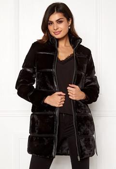 VERO MODA Ninja 3/4 Faux Fur Jacket Black Bubbleroom.dk