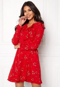 VERO MODA Parisan Short Wrap Dress Lychee Bubbleroom.dk