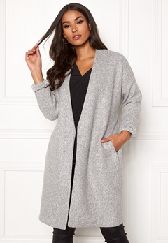 VERO MODA Rine Brushed 3/4 Jacket Light Grey Melange Bubbleroom.dk