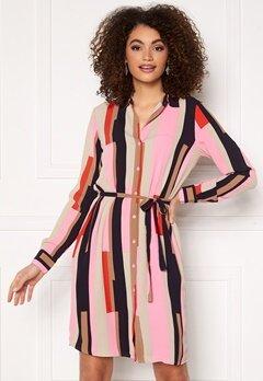 VERO MODA Saga Collar Shirt Dress Prism Pink / Matilda Bubbleroom.dk