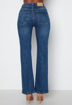 VERO MODA Saga HR S Flared Jeans Dark Blue Denim bubbleroom.dk