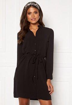 VERO MODA Saga LS Collar Shirt Dress Black Bubbleroom.dk