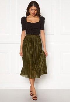 VERO MODA Seline Plisse Skirt Military Olive Bubbleroom.dk