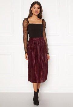 VERO MODA Seline Plisse Skirt Port Royale Bubbleroom.dk