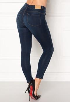 VERO MODA Seven Shape Up Jeans Dark Blue Denim Bubbleroom.dk