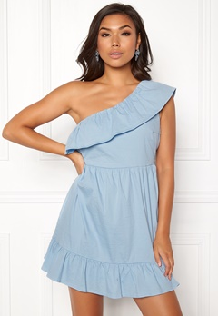 VERO MODA Sia One Shoulder Dress Cerulean Bubbleroom.dk