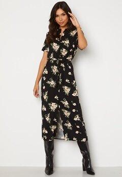 VERO MODA Simply Easy SS Long Shirt Dress Black AOP: Sandy Bubbleroom.dk