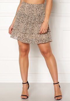 VERO MODA Smila Short Layer Skirt Creme Tan Bubbleroom.dk