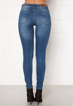 VERO MODA Tanya Piping Raw Jeans Medium Blue Denim Bubbleroom.dk