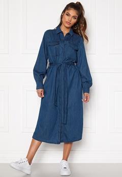 VERO MODA Teagan LS Denim Dress Medium Blue Denim Bubbleroom.dk