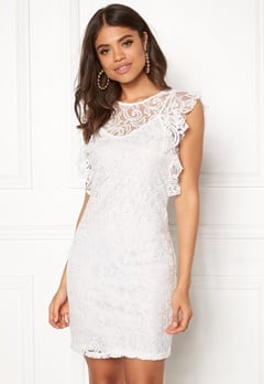 VERO MODA Thea Short Lace Dress Snow White Bubbleroom.dk