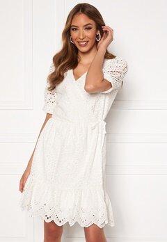 VERO MODA Therese Short Wrap Dress Snow White Bubbleroom.dk