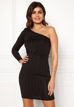 VERO MODA Wiona One Shoulder Short Dress Black Black Lurex Bubbleroom.dk