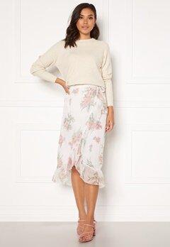 VERO MODA Wonda H/W Wrap Skirt Birch AOP Ophelia Ro Bubbleroom.dk
