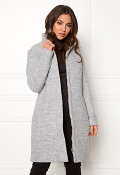 VILA Alanis Coat Light Grey Melange Bubbleroom.dk