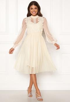 VILA Ama L/S Dress Cloud Dancer Bubbleroom.dk