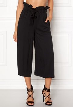 VILA Amaly HW Cropped Pants Black Bubbleroom.dk
