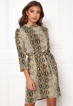 VILA Amella L/S Dress Sandshell Bubbleroom.dk