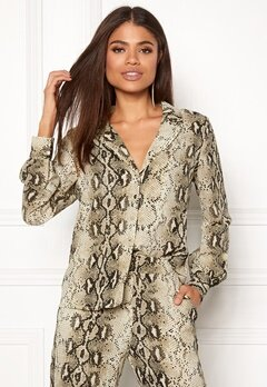 VILA Amella L/S Shirt Sandshell Bubbleroom.dk