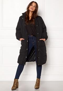 VILA Anabella Long Jacket Black Bubbleroom.dk