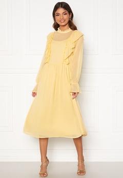 VILA Ashlynn Highneck L/S Dress Sunlight Bubbleroom.dk