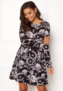 VILA Astha L/S Dress Black Bubbleroom.dk