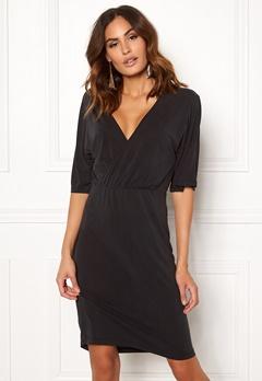 VILA Atetsy 2/4 Sleeve Dress Black Bubbleroom.dk