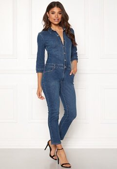 VILA Barkan New 3/4 Sleeve 7/8 Jumpsuit Medium Blue Denim Bubbleroom.dk