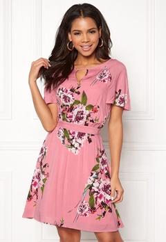 VILA Birdo S/S Dress Bridal Rose Bubbleroom.dk